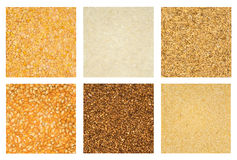 Cereals collection isolated Stock Images