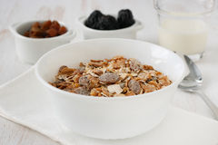 Cereals with dry fruits Royalty Free Stock Photography
