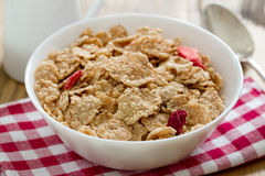 Cereals with dry fruits Royalty Free Stock Images