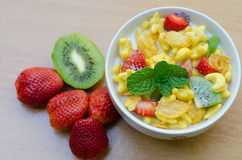 Cereals with fruit Royalty Free Stock Photo