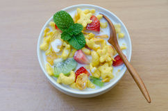 Cereals with fruit Royalty Free Stock Images
