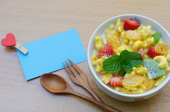 Cereals with fruit Stock Photography
