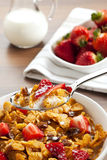 Cereals and fruit breakfast Stock Image