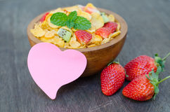 Cereals with fruit Royalty Free Stock Photography