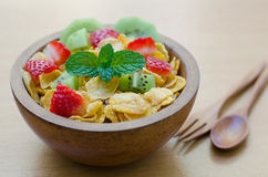 Cereals with fruit Stock Image
