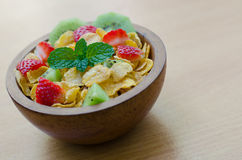 Cereals with fruit Royalty Free Stock Image