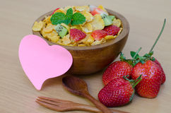 Cereals with fruit Stock Photo