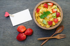 Cereals with fruit Stock Photos