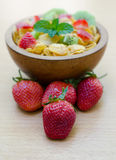 Cereals with fruit Stock Images