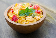 Cereals with fruit Royalty Free Stock Photos