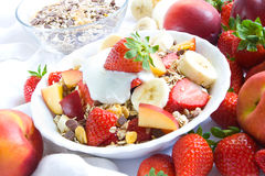 Cereals with fruits Royalty Free Stock Image