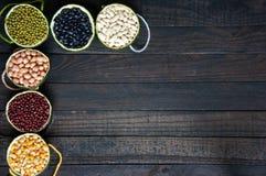 Cereals, healthy food, fibre, protein, grain, antioxidant Stock Images