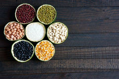 Cereals, healthy food, fibre, protein, grain, antioxidant Royalty Free Stock Photos