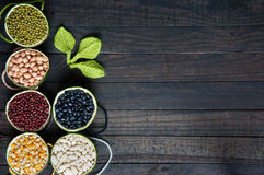 Cereals, healthy food, fibre, protein, grain, antioxidant Royalty Free Stock Images