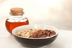 Cereals and honey Stock Image