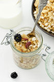 Cereals in a jar Royalty Free Stock Image