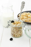 Cereals in a jar Stock Images