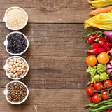 Cereals, legumes and vegetables Royalty Free Stock Photo
