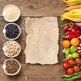 Cereals, legumes and vegetables Stock Photography