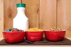 Cereals and milk Royalty Free Stock Photography