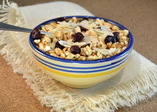Cereals with nuts and almonds Stock Images