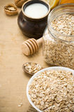 Cereals oat flake and healthy food Royalty Free Stock Image