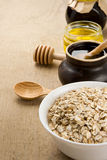 Cereals oat flake and healthy food Royalty Free Stock Photo
