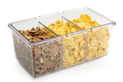 Cereals in plastic box Stock Image