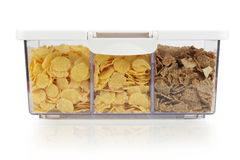 Cereals in plastic box Royalty Free Stock Photo
