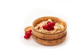 Cereals with red currants Stock Photos