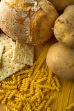 Cereals, and rice and potatoes stock photo