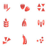Cereals and seed flat icons Royalty Free Stock Photos
