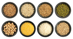 Cereals and Seeds Collection Isolated Royalty Free Stock Image