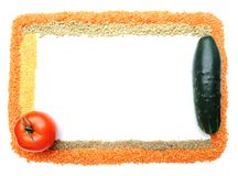 Cereals and vegetables, banner Stock Photos