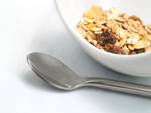 Cereals in a white bowl Stock Photo