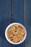Cereals in white bowl Royalty Free Stock Photo