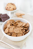 Cereals in white bowl Royalty Free Stock Photos
