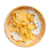Cereals and yogurt mix Royalty Free Stock Images