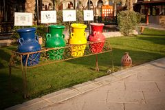 Cereamic jugs for recycling garbage, Egypt Royalty Free Stock Photo
