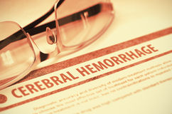 Cerebralny krwotok Medycyna ilustracja 3 d fotografia stock