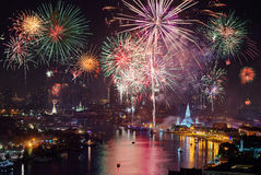 Cerebrations Нового Года Бангкока Стоковые Фотографии RF