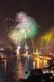 Cerebrations Нового Года Бангкока Стоковая Фотография