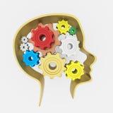 cerebro 3D del pensamiento creativo Fotografía de archivo libre de regalías