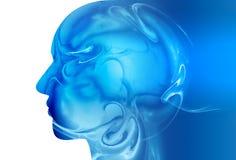 Cerebro abstracto ilustración del vector
