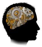 Cerebro antropomecánico de los dientes de los engranajes de funcionamientos Imagenes de archivo