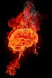 Cerebro ardiente stock de ilustración