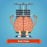 Cerebro atlético y apto que hace el entrenamiento pesado libre illustration