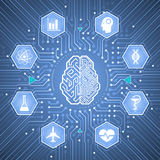 Cerebro cibernético Imagen de archivo libre de regalías
