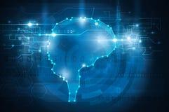 Cerebro cibernético ilustración del vector