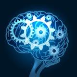 Cerebro con el ejemplo de los engranajes libre illustration